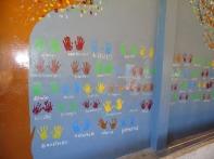 Mur d'empreintes : projet de création de volontaires