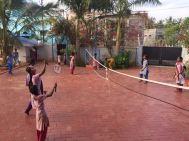 Une belle partie de badminton sur l'initiative de Pauline