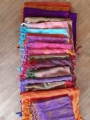 Echarpes differents coloris
