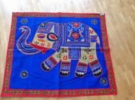 Tissu un elephant (banc, bleu)